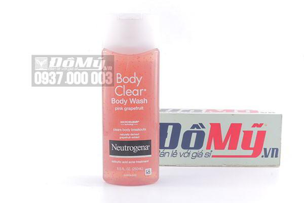 Sữa tắm trị mụn Neutrogena Body Clear Body Wash Pink Grapefruit 250ml của Mỹ