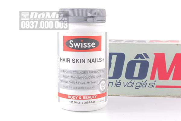 Viên uống Collagen Swisse Hair Skin Nails 100 viên của Úc