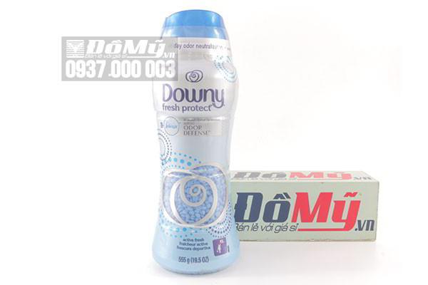 Hạt xả vải Downy Fresh Protect Wash Odor Defense 555g của Mỹ