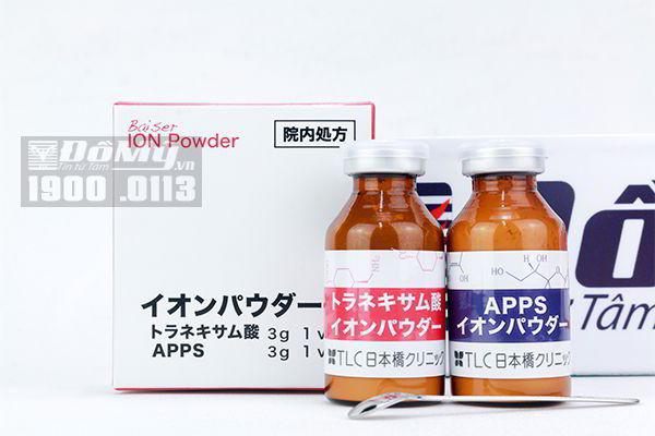 Cặp Ion vitamin C và Tranexamic Acid trị thâm mụn, thâm nám