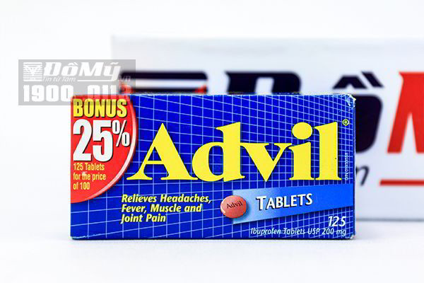 Viên uống giảm đau Advil 125 viên nén Mỹ