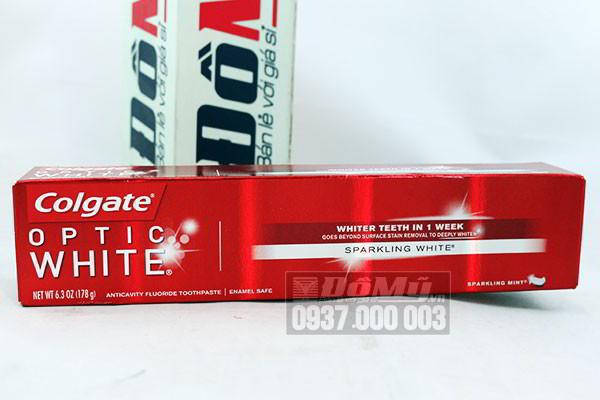 Kem đánh răng Colgate Optic White 178g của Mỹ