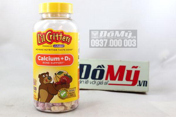 L'il Critters® Calcium Gummy Bears  200 viên hàng nhập Mỹ