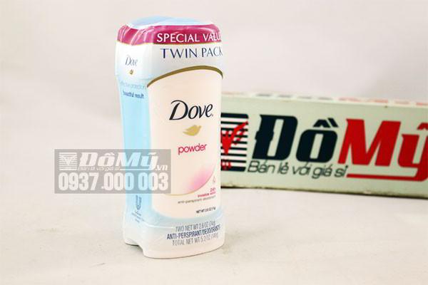 Bộ lăn khử mùi dạng sáp Dove Powder của Mỹ loại 74g