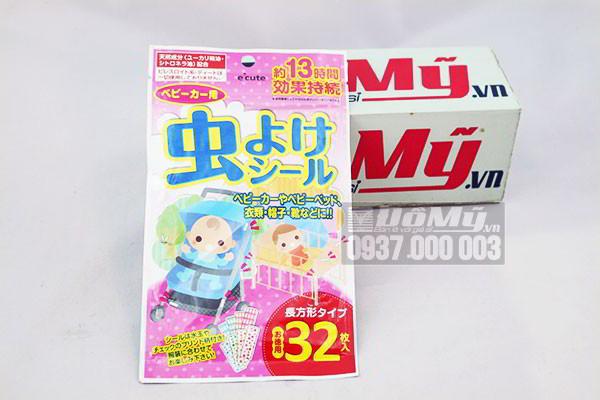 Miếng dán chống muỗi và côn trùng 32 miếng của Nhật Bản