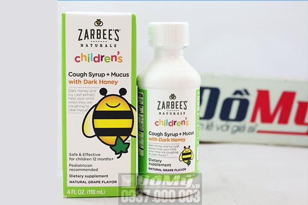 Siro trị ho Zarbee's Naturals Children's Cough Syrup 118ml của Mỹ