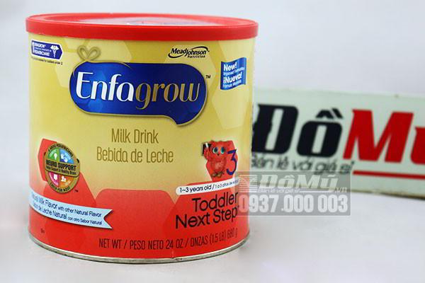 Sữa Enfagrow số 3 nắp đỏ 680g nhập từ Mỹ