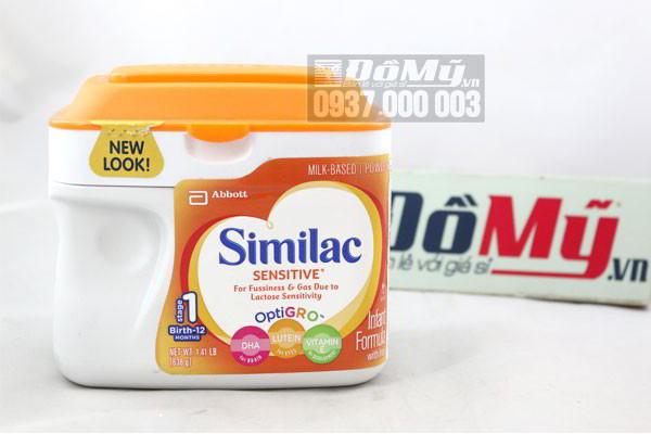 Sữa Similac Senstive chống nôn trớ dành cho trẻ từ 0-12 tháng tuổi của Mỹ hộp  638g