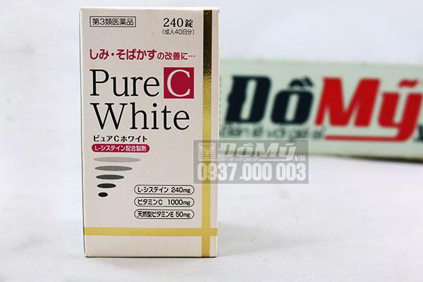 Thuốc uống trị trắng da, trị nám và tàn nhang Pure White C 240 viên của Nhật Bản