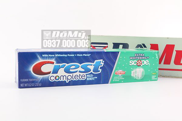 Kem đánh răng Crest Complete Extra Whitening Plus Scope 232g của Mỹ