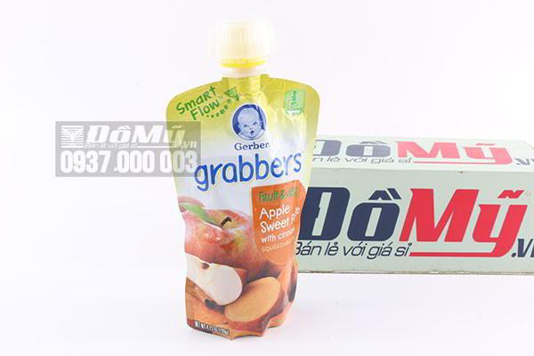 Nước ép trái cây hương táo Gerber Grabbers dành cho bé 120ml của Mỹ