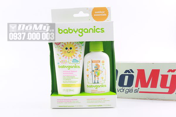 Bộ đôi xịt chống nắng và xịt côn trùng Babyganics 59ml của Mỹ