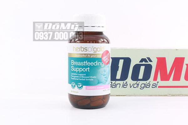 Viên uống lợi sữa Herbs Of Gold Breastfeeding Support 60 viên của Úc