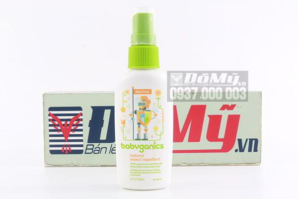 Xịt chống côn trùng Babyganics Natural Insect Repellent 59ml của Mỹ