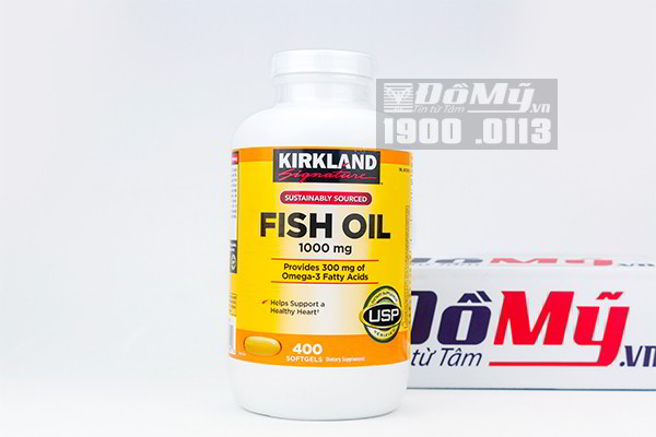 Dầu cá Kirkland Signature™ Omega-3 Fish oil 400 Viên nhập từ Mỹ