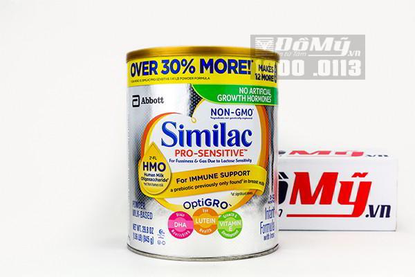Sữa Similac Sensitive chống đầy hơi và nôn trớ của Mỹ 845g