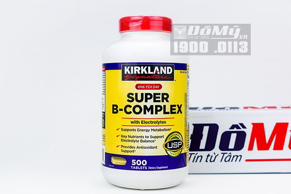 Viên uống Super B-Complex with Electrolytes Kirkland 500