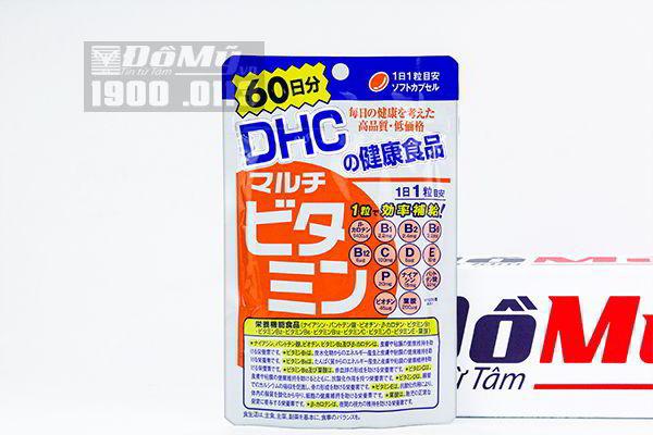 Viên uống DHC Multi bổ sung tổng hợp 12 loại vitamin gói 60 viên