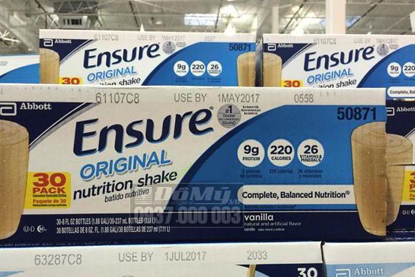 hạn sử dụng của sữa ensure nước 237g
