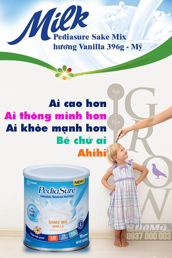 Sữa Pediasure Sake Mix hương Vanilla 396g-Mỹ-cho bé những gì tốt nhất