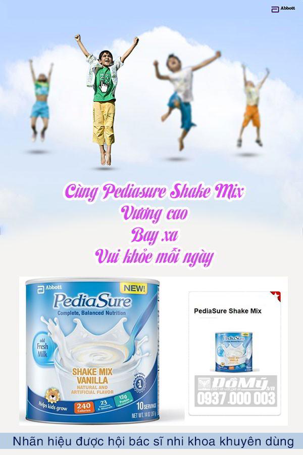 Sữa Pediasure Sake Mix hương Vanilla 396g-Mỹ-vương cao bay xa, vui khỏe mỗi ngày