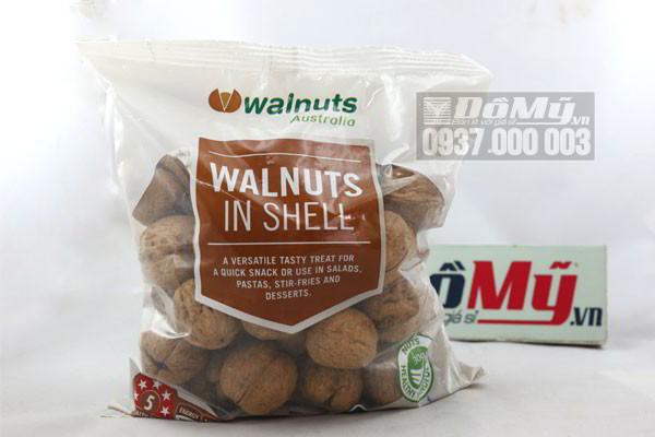 Hạt óc chó nguyên vỏ Walnuts In shell 500g của Úc