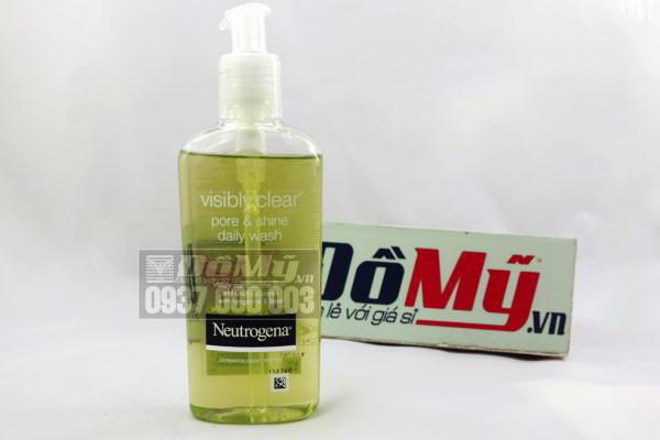 Sữa rửa mặt Neutrogena Visibly Clear Pore & Shine Daily Wash 200ml của Mỹ
