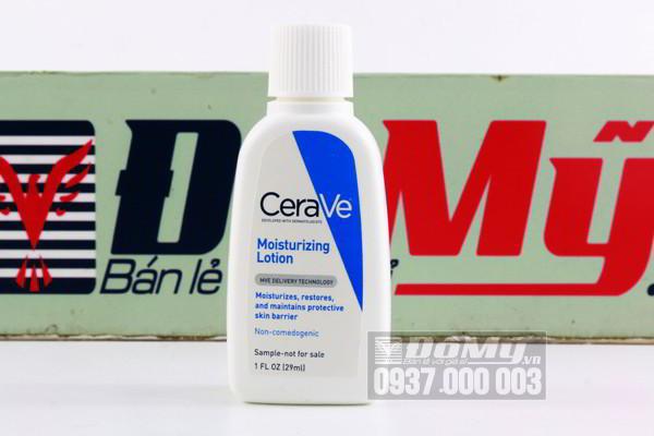 Sữa dưỡng thể Cerave Moisturizing Lotion 29ml của Mỹ
