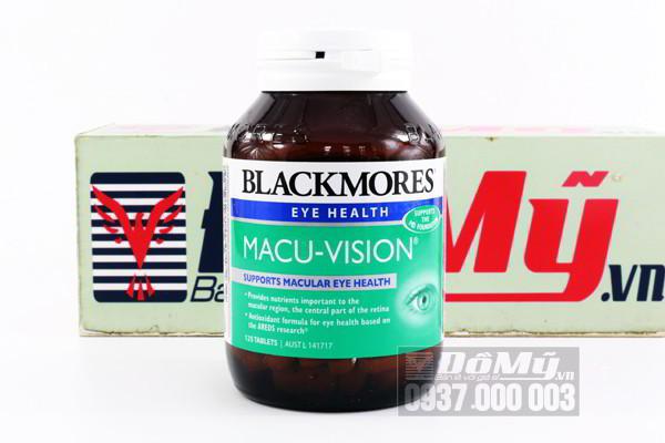 Viên uống bổ mắt Blackmores Macu Vision 125 viên của Úc