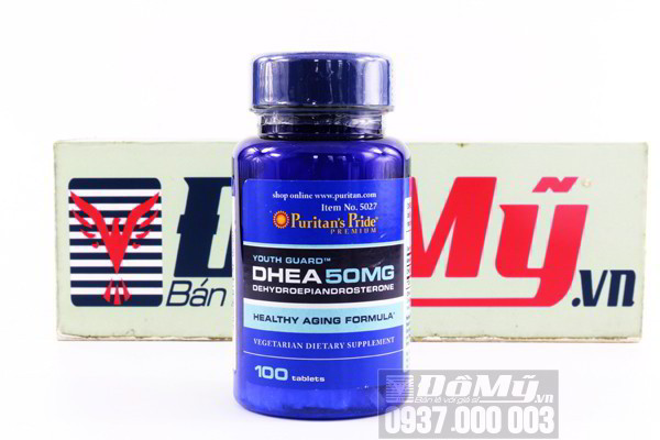 Viên uống tăng cường nội tiết tố nữ DHEA 50mg Puritan's Pride 100 viên của Mỹ