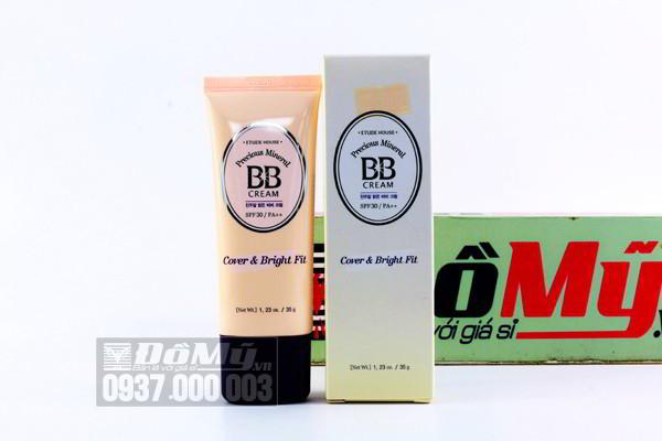 Kem BB trang điểm Etude House Precious Mineral BB Cream SPF 30/PA++ Cover & Bright Fit 35g của Hàn Quốc