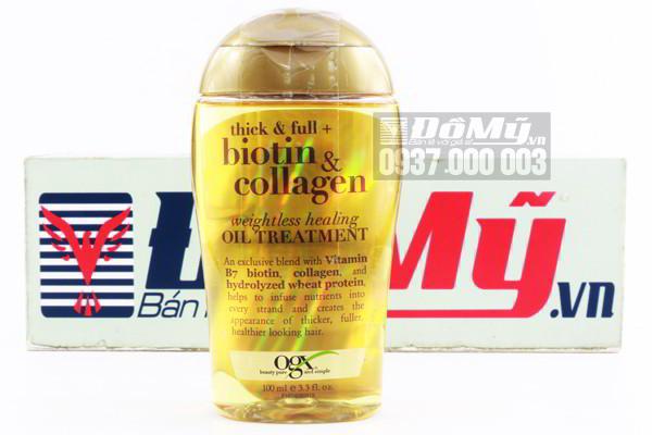 Dầu dưỡng tóc Organix Biotin & Collagen làm dày tóc 100ml của Mỹ