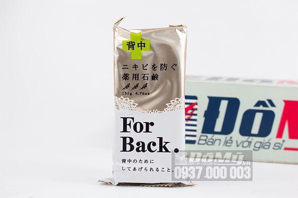 Xà phòng trị mụn lưng For Back Medicated Soap Pelican 135g của Nhật Bản