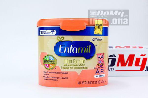 Sữa Enfamil AR cho trẻ trào ngược thực quản 610g