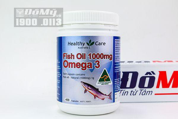 Dầu cá Healthy Care Fish Oil 1000mg Omega-3 400 viên của Úc