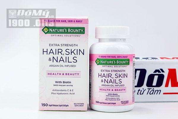 Vitamin làm đẹp da, tóc, móng Hair Skin and Nails Natures Bounty 150 viên