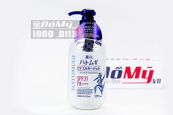 Sữa dưỡng thể chống nắng Hatomugi UV Milky Gel 250ml