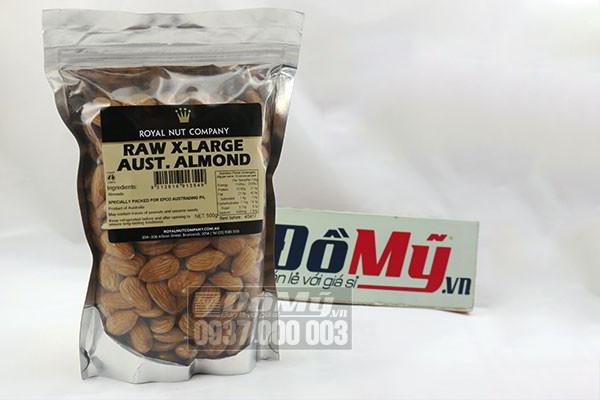 Hạt hạnh nhân của Úc Raw X-Large 500gr