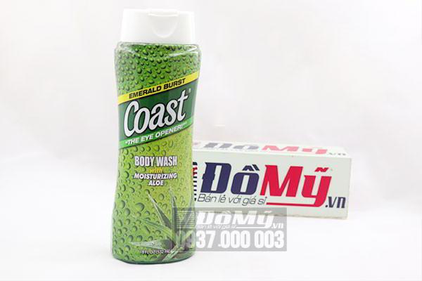 Sữa tắm Coast Body Wash with Moisturizing Aloe của Mỹ loại 532ml