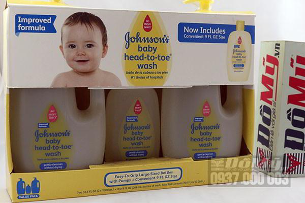 Bộ Sữa tắm gội toàn thân Johnson's baby head to toe wash của Canada