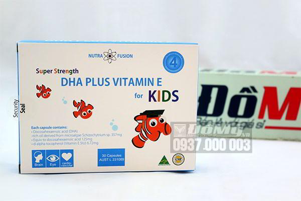 Super Strength DHA Plus Vitamin E For Kids hộp 30 viên của Úc