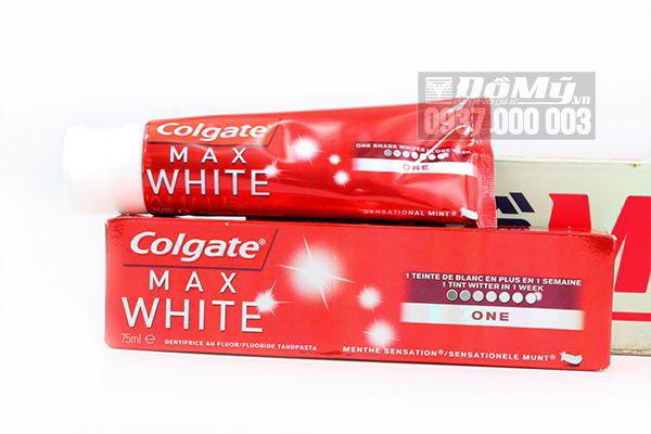 Kem đánh răng Colgate Max White 75ml của Mỹ