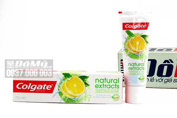Kem đánh răng Colgate Natural Extracts 75ml của Mỹ