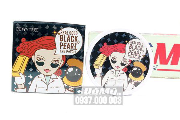 Mặt nạ mắt Dewy Tree Real Gold Black Pearl Eye Patch 60 miếng của Hàn Quốc