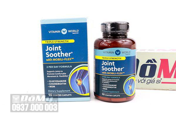 Viên uống bổ khớp Triple Strength Joint Soother của Vitamin World 90 viên của Mỹ