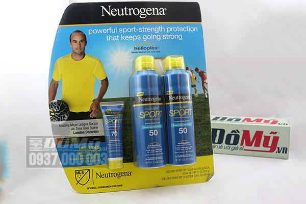 Bộ sản phẩm kem chống nắng Neutrogena Sport SPF 50 & SPF70 của Mỹ