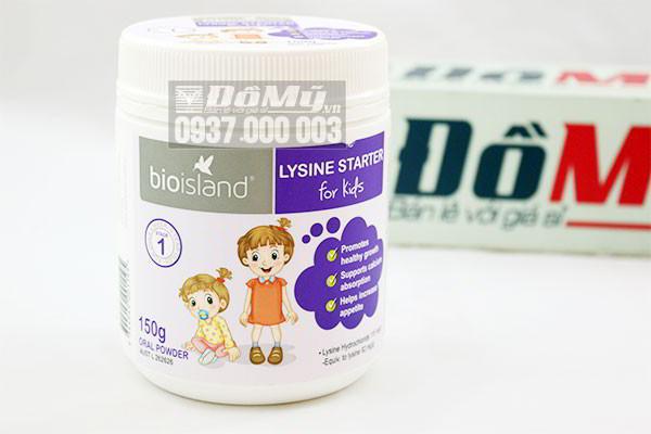 Bột bổ sung Lysine Bioisland số 1 hộp 150g của Úc
