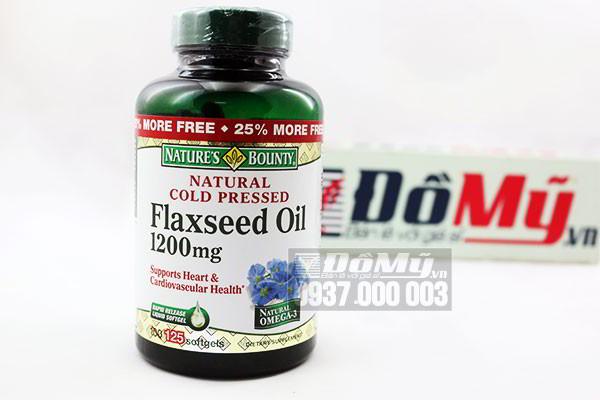 Tinh dầu hạt lanh Natural cold pressed flaxseed oil 1200mg 125 viên của Mỹ