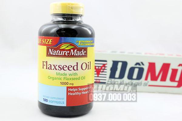 Viên uống dầu hạt lanh Nature Made Flaxseed oil 1000mg hộp 180 viên của Mỹ