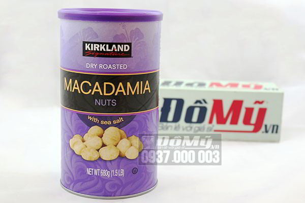 Hạt Macadamia Kirkland Signature của Mỹ Hộp 680g